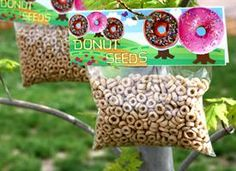 Donut Seed recipe: 4cups Cheerios brand cereal  6sandwich baggies  doughnut seed labels  Directions    1 Place 2/3 cup original Cheerios brand cereal in each baggie  2 Attach doughnut seed label