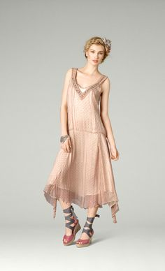 20's feel drop-waist dress