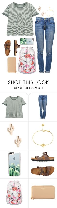 """""""Way too much homework"""" by classygrace ❤ liked on Polyvore featuring Chicnova Fashion, Current/Elliott, Sole Society, Roberto Coin, Casetify, Birkenstock, The North Face and Kate Spade"""