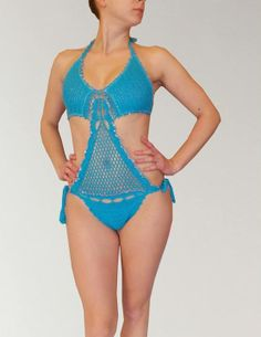 """Beso del Sol"" Swimwear, Beachwear and Resort-wear Collection 2014 blends in each garment beauty, uniqueness and femininity in order to create perfection. Crochet Monokini, Crochet Bikini, Resort Wear, Sunnies, Bikinis, Swimwear, Beachwear, Feminine, Sexy"