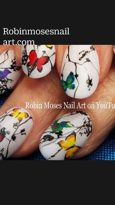 Nail Art Techniques, Painting Techniques, Cute Nails, Pretty Nails, Robin Moses, Nail Art Videos, Animal Design, Mani Pedi, Simple Nails
