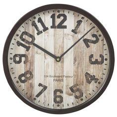 Reloj de metal negro | Maisons du Monde