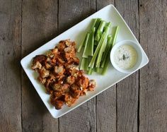 Buffalo Cauliflower And Vegan Ranch Dip | 25 Vegan Recipes For Super Bowl Sunday