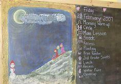 2nd Grade Chalkboard