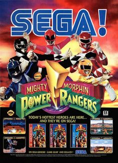 Power Rangers Sega - Genesis, Game Gear, Sega CD