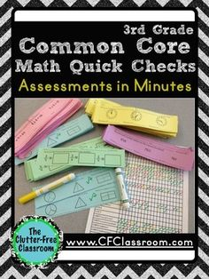 3rd Grade Common Core Math Quick Checks {Easy Assessment}  *** Could easily adapt to middle school!