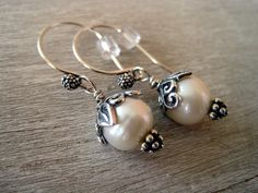 Earrings Sterling Silver Fresh Water Pearls with by jodybrimhall