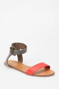 deena & ozzy double strap sandal in blue, white or gold $29 @ urban
