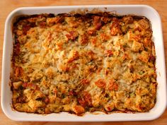 Herb & Apple Bread Pudding recipe from Ina Garten. This will be on my table for Thanksgiving 2015:-)