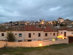 View of the pueblo of Chinchón while descending from the castle ruins