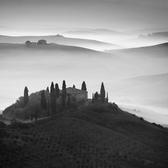 Black and white Tuscany, Italy  by Daniel Řeřicha, via 500px