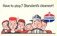 POSTCARDY: the postcard explorer: PFF - Vintage Standard Oil Ad