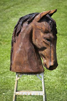 Wood Carving Head Boards Horses | Horse Head Carving