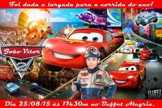 Convite digital personalizado Carros da Disney com foto 003