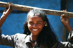 Africa   The lovely smile of an Amhara Girl in Tigray, Ethiopia   © Vincent Bournzael