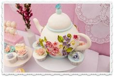 Teapot Shaped Cake | ... lovely addition to the overall design. This one by Cakes by Alyanna