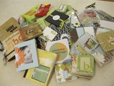 list of mini album ideas by Christine As Cellen Mccreary