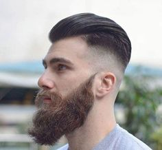 The ducktail beard, simply put, is a full facial hair style that looks like a duck's tail. Although ducktail beard styles allow for some variation in length and thickness, the…View Mens Hairstyles Pompadour, Trendy Mens Hairstyles, Undercut Hairstyles, Hairstyle Man, Hairstyle Ideas, Trendy Haircuts, Men's Hairstyles, Hair Ideas, Popular Beard Styles