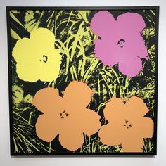 Flowers Sunday B. Morning by Andy Warhol (Serigraph) Andy Warhol Flowers, Pop Art Movement, Morning Flowers, Exhibition Poster, Flower Prints, Find Art, Framed Artwork, Giclee Print, Contemporary Art