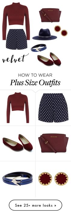 """Velvet summer to autumn"" by fashionista-zena on Polyvore featuring Zizzi, WearAll, MICHAEL Michael Kors, rag & bone, McQ by Alexander McQueen and House of Harlow 1960"
