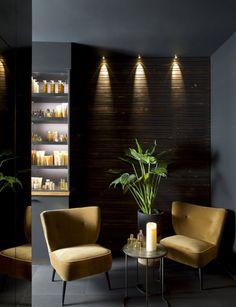 Le Spa Nuxe du Terrass Hôtel à Paris. The Nuxe Spa at the Terrass Hotel in Paris. Spa Design, Spa Interior Design, Beauty Salon Decor, Beauty Salon Design, Beauty Salon Interior, Hotel Paris, Paris Hotels, Deco Spa, Design Offices