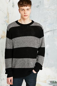 Cheap Monday Strike Sweater in Grey and Black