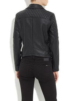Siyah Fermuarlı Deri Ceket