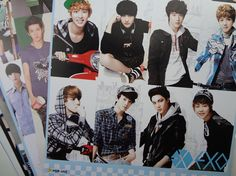Hot Sale  EXO Korean Stars(Kris Luhan and other members) 8 piece sets  poster