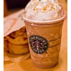 Caramel frappuccino favorite drink @ Starbucks!