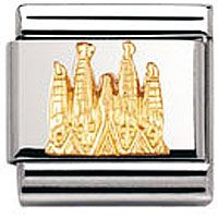 Nomination Charm Sagrada Familia, Gold Relief | Contemporary Jewellery at Affordable Prices | Xen Jewellery Design