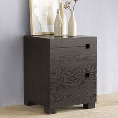 Square Cutout Nightstand - Chocolate | West Elm