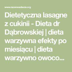 Dietetyczna lasagne z cukinii - Dieta dr Dąbrowskiej   dieta warzywna efekty po miesiącu   dieta warzywno owocowa   oczyszczająca dieta