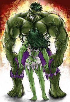#Hulk #Fan #Art. ( Hulk vs She Hulk) By: Parmaali. (THE * 5 * STÅR * ÅWARD * OF: * AW YEAH, IT'S MAJOR ÅWESOMENESS!!!™)[THANK U 4 PINNING!!!<·><]<©>ÅÅÅ+(OB4E)