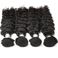 This Brazilian Deep Wave hair bundle is a Brazilian Remy hair extension. The hair texture is a deep wave that can be permed and suitable for dying in any colors. It is packaged with 4 pieces of hair extensions. Black Hairstyles With Weave, Weave Hairstyles, Diamond Virgin Hair, Deep Curly Weave, Deep Wave Brazilian Hair, Indian Human Hair, Indian Hair, Sew In Hair Extensions, Hair Bundle Deals