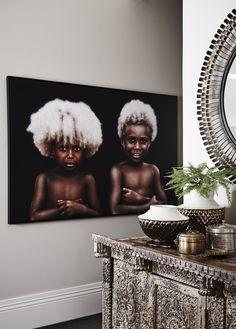 Papua New Guinea Kids - by Artist Made Seni Budiarta - Home By Tribal African Interior Design, African Design, African Art, African Beauty, African Style, Ethnic Decor, Tribal Decor, Art Tribal, Tribal Style