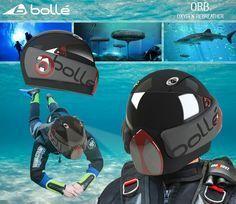 Futuristic ORB Scuba Diving Helmet #scubadivingequipmentmasks