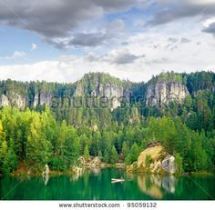 Lake in rock city Adrspach, National park of Adrspach, Czech Republic by Pecold, via Shutterstock
