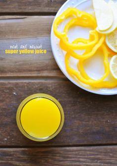 Super Yellow Juice  -- packed with veggies and vitamin C! // via Nosh and Nourish