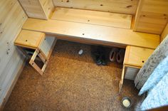 From the window: bench storage, a moveable board for day bed conversion?