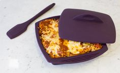Speedy Lasagna use ricotta cheese only and less marinara sauce Other Recipes, Real Food Recipes, Cooking Recipes, Yummy Food, Pasta Recipes, Epicure Steamer, Epicure Recipes, Microwave Recipes, Microwave Dishes