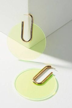 Berlin Lucite Hoop Earrings