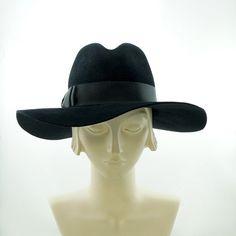 Wide Brim Fedora Hat for Women   Vintage by TheMillineryShop, $235.00