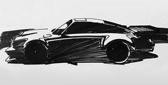 1990-1993 | Porsche 911 Turbo (964) | Art by Andreas Van Speybroeck (Lamborghini Design Team)
