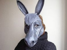 Animal Mask Masquerade Mask Donkey Mask Paper Mache by EpicFantasy