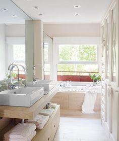 modern bathroom S. Bathroom Renos, Bathroom Furniture, Home Furniture, Smart Home Design, Home Interior Design, Luxury Master Bathrooms, Modern Bathroom, Warehouse Living, Contemporary Baths