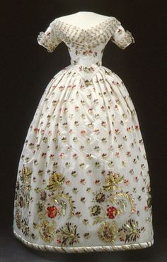 Evening gown, c.1858