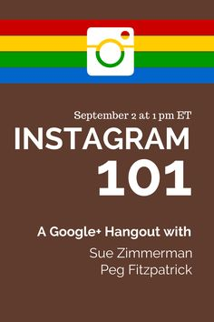 Learn about the power of Instagram from #Instagal  @suebzimmerman! We'll cover the basics so you can get started being awesome immediately. Sept 2 at 1 pm ET. https://plus.google.com/u/1/b/104858643838035519891/events/cqje8hs2srdnnoc2pf6rea125v4