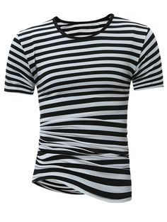 A menswear look from May 2017 featuring mens striped shirt, mens skinny pants and mens high top shoes. Browse and shop related looks. Mens High Top Shoes, Mens High Tops, Breton Stripe Shirt, Striped Tee, Stripe Shirts, Sammy Dress, Shirt Shop, Cool Outfits, Tees
