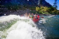 Idaho Rafting 100 miles on the Salmon River ... waterfalls, hot springs, etc