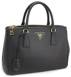 Prada BN1801 Saffiano Lux Tote - Black http://www.edesigneremporium.com/prada-bn1801-saffiano-lux-tote---black
